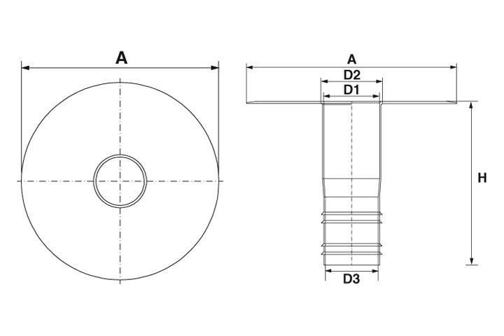 PVC roof drain