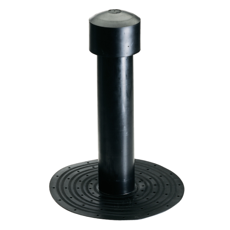 Simple wall TPE roof vent height 400 mm - diameter 75 mm - accessories for bituminous ...